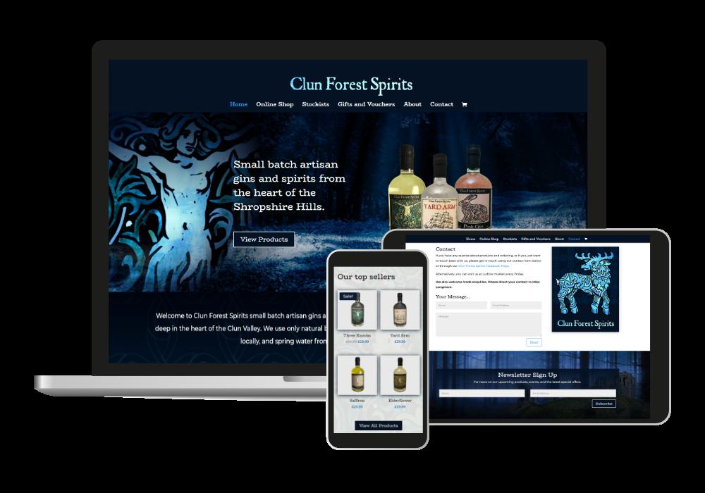 Web design Shropshire Clun Forest Spirits